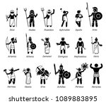 ancient greek mythology gods... | Shutterstock .eps vector #1089883895