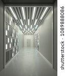 hallway interior with lamella... | Shutterstock . vector #1089888086