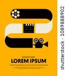 movie and film modern retro... | Shutterstock .eps vector #1089888902