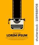 movie and film modern retro...   Shutterstock .eps vector #1089888908