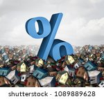 home interest rates and housing ... | Shutterstock . vector #1089889628