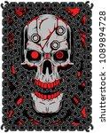 skull  chain  vector ... | Shutterstock .eps vector #1089894728