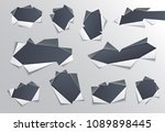 torn hole with gray edges in... | Shutterstock .eps vector #1089898445