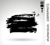 black brush stroke and texture. ...   Shutterstock .eps vector #1089899072