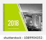 cover design for annual report... | Shutterstock .eps vector #1089904352