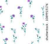 trendy floral background with... | Shutterstock .eps vector #1089915176