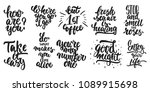 hand drawn lettering different... | Shutterstock .eps vector #1089915698