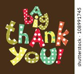 thank you card design. vector... | Shutterstock .eps vector #108991745