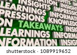 takeaways insights information... | Shutterstock . vector #1089919652