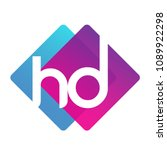 letter hd logo with colorful... | Shutterstock .eps vector #1089922298