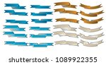 flat ribbon web banner...   Shutterstock .eps vector #1089922355