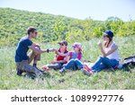 family with two children... | Shutterstock . vector #1089927776