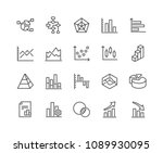 simple set of charts and... | Shutterstock .eps vector #1089930095