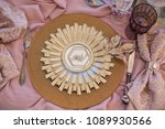 table appointments of a wedding ... | Shutterstock . vector #1089930566