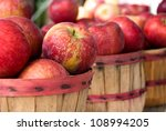 Red Ripe Apples In Bushel...