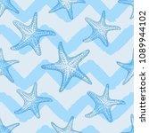 abstract marine seamless... | Shutterstock .eps vector #1089944102