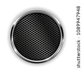 metal chrome perforated button. ... | Shutterstock . vector #1089947948