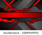 red and black contrast abstract ... | Shutterstock .eps vector #1089949592
