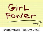 girl power illustrtation  | Shutterstock . vector #1089959258