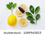 fresh lemon with lemon... | Shutterstock . vector #1089965825