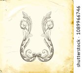 retro baroque decorations... | Shutterstock .eps vector #1089966746