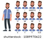 set of the position of the lips ... | Shutterstock .eps vector #1089970622