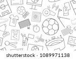 vector football pattern.... | Shutterstock .eps vector #1089971138