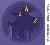 illustration of the city has... | Shutterstock .eps vector #1089975992