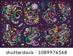 colorful vector hand drawn... | Shutterstock .eps vector #1089976568