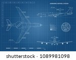 outline blueprint of military... | Shutterstock .eps vector #1089981098