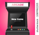 realistic detailed 3d arcade... | Shutterstock .eps vector #1089982205