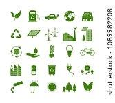 cartoon ecology signs green... | Shutterstock .eps vector #1089982208