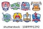 soccer badges design set | Shutterstock .eps vector #1089991292