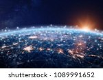 global world telecommunication... | Shutterstock . vector #1089991652
