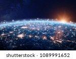 global world telecommunication... | Shutterstock . vector #1089991652