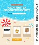 summer vacation travel event... | Shutterstock .eps vector #1089996425