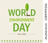 world environment day.... | Shutterstock .eps vector #1089999206