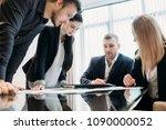 brainstorming. briefing meeting.... | Shutterstock . vector #1090000052