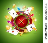 vector illustration on a casino ... | Shutterstock .eps vector #1090002218