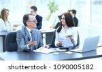 businessman analyzing... | Shutterstock . vector #1090005182