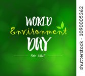 world environment day.... | Shutterstock .eps vector #1090005362
