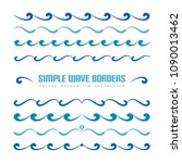 set of wavy borders  divider... | Shutterstock .eps vector #1090013462