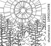 Winter Line Art Design For...