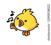 cartoon singing bird | Shutterstock .eps vector #1090018022