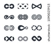 infinity logo design graphics   Shutterstock .eps vector #1090025915