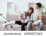 injured family of wife and...   Shutterstock . vector #1090027265