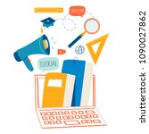 education  online training... | Shutterstock .eps vector #1090027862