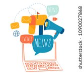 e mail news  subscription ... | Shutterstock .eps vector #1090027868