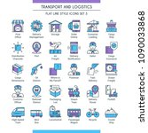 transport and logistic icons... | Shutterstock .eps vector #1090033868
