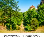 deer's moat at prague castle ... | Shutterstock . vector #1090039922